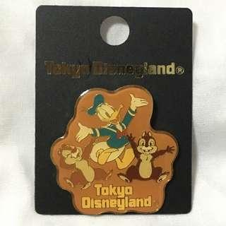 唐老鴨與大鼻鋼牙 東京迪士尼襟章 (Donald, Chip and Dale - Tokyo Disneyland - Pin Collection 2000)