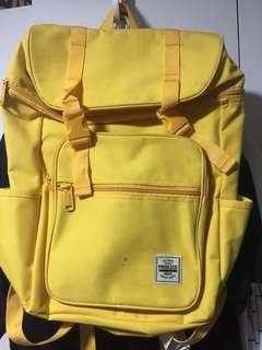 黃色韓國背包大容量