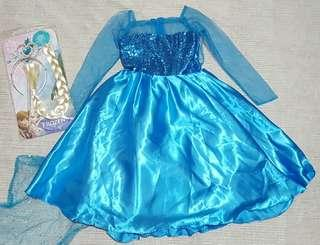 ELSA Gown with Hair Accessories