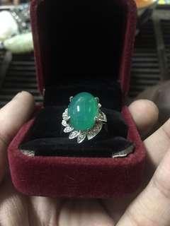 🚚 10克拉藍寶14k金鑽石戒指