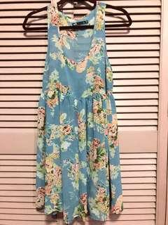 Floral Sheer Beach Dress