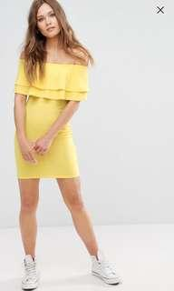 New Look Frill Yellow Dress