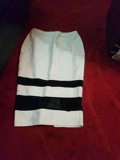 Dress and pencil skirt