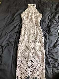 Pretty Little Thing Lacey Bareback Dress
