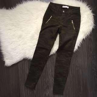 Zara Camouflage Skinny Pants Size 2