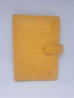 Authentic Vintage Louis Vuitton Agenda PM Planner/ Wallet Epi Yellow / Purple Leather