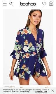 BNWT Boohoo Floral Playsuit Blue (Qty 4)