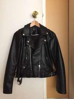 Zara women's leather jacket