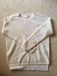 Aritzia wilfred free women's small white comfy sweater