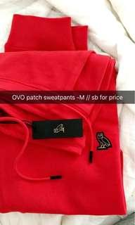 NEW OVO patch sweatpants