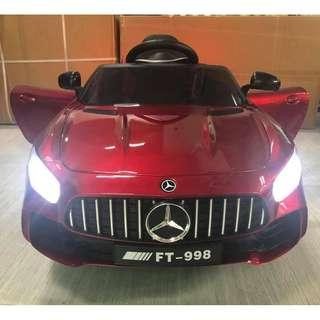 Mercedes Benz FT AMG 998 Leather Seats and Rubber Tires Electric Ride On Toy Car For Kids