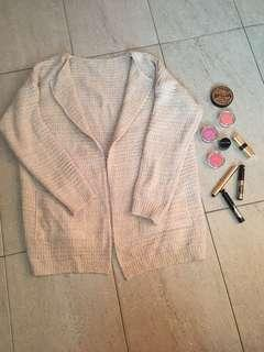 Inspired Beige Knitted Cardigan
