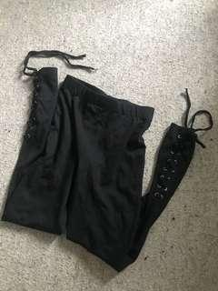 Ally fashion leggings lace up size small