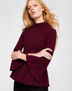 Ted Baker burgundy knit top (size 1)