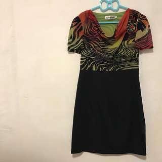 專櫃品牌 斑馬紋造型洋裝