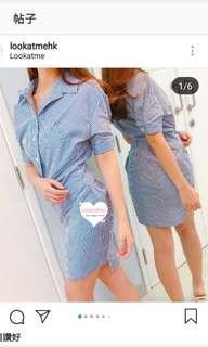 Stripe skinny dress 條紋修身裙