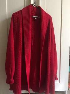Red thick cardigan/jacket