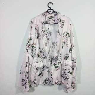 Outer satin flowery