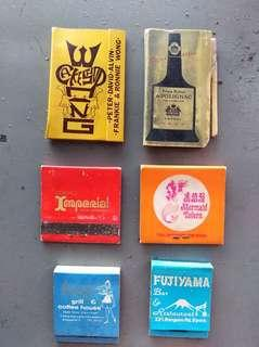 Old match books