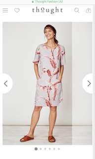 Relax shift dress tropical print