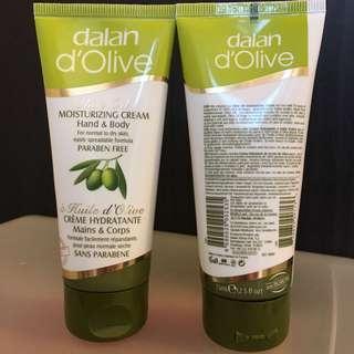 全新土耳其turkey dalan d'olive橄欖油保濕霜75ml