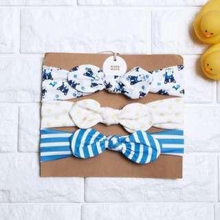 🚚 Instock - 3pc assorted headband, baby infant toddler girl