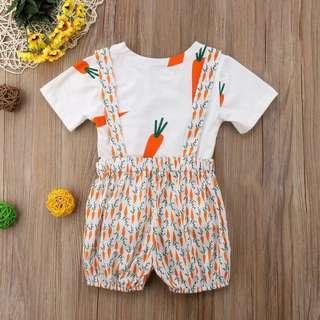 🚚 Instock - 2pc carrot set, baby infant toddler girl boy