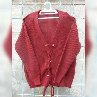 Red Knitted Outer
