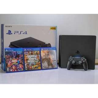 One Month Old Sony PS4 Complete with Games and PS PLUS account