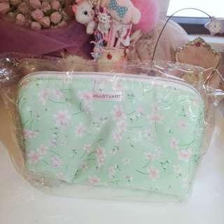 JILL STUART Blissful Breeze 甜美粉綠色化妝袋