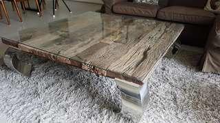 🚚 Coffee Table Upcycled Rail Sleeper Wood