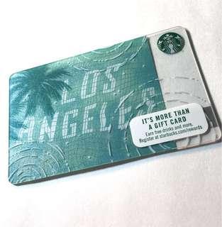 美國代購Starbucks Los Angeles Card 星巴克洛杉磯城市卡