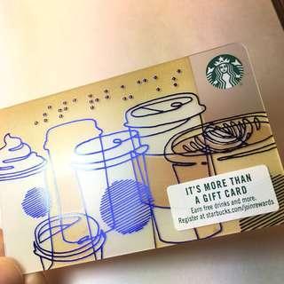 美國代購Starbucks Card 星巴克卡