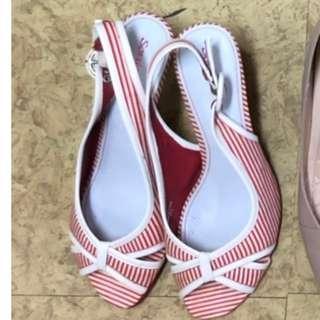 Sonia 37.5號 魚口女鞋 9-8成新