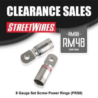 STREETWIRES 8 Gauge Set Screw Power Rings (PRS8)