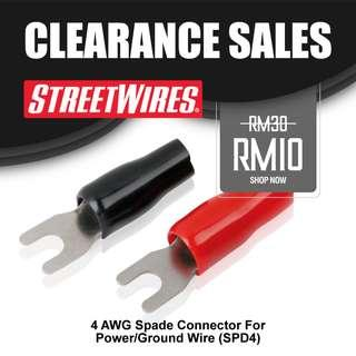 STREETWIRES 4 AWG Spade Connector For Power/Ground Wire (SPD4)