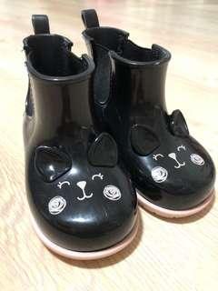 Zaxynina Black Rain Boots for Girls