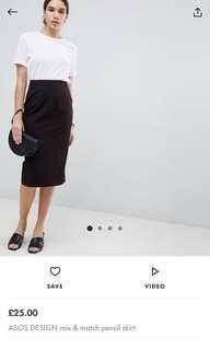 ASOS mix and match pencil skirt