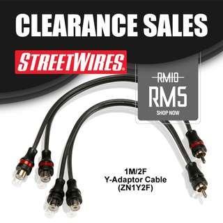STREETWIRES 1M/2F Y-Adaptor Cable (ZN1Y2F)