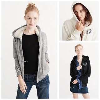 A&F軟糯超顯瘦女裝連帽衛衣外套Abercrombie & Fitch soft hoodie jacket AF Hollister HCO AEO
