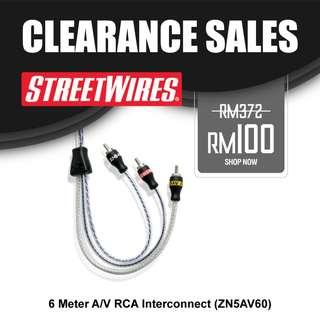 STREETWIRES 6 Meter A/V RCA Interconnect (ZN5AV60)