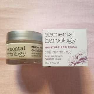 New In-Elemental Herbology Moisture Replenish Cell Plumping Facial Moisturiser
