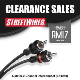 STREETWIRES 5 Meter 2-Channel Interconnect (ZN1250)