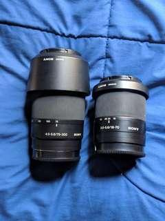 Sony a200 lens. 75-300 and 18-70