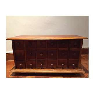 Unique Vintage Chest with Drawers