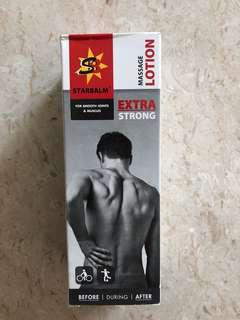 Starbalm extra strong massage lotion for sore muscles