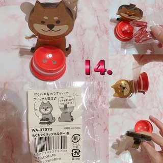 🚚 日本柴犬迴紋針吸盤 附迴紋針