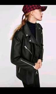 Zara Oversized Moto Jacket