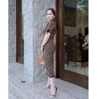 Fendi Imspired Jinkee Bodycon Dress