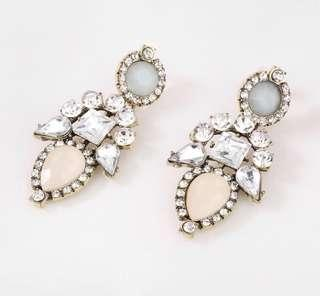 Rhinestone heavy earrings